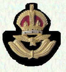 Officers' beret badge - Officers below Air Rank (King's Crown)