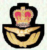 Officers' cap badge - Officers below Air Rank (Queen's Crown)