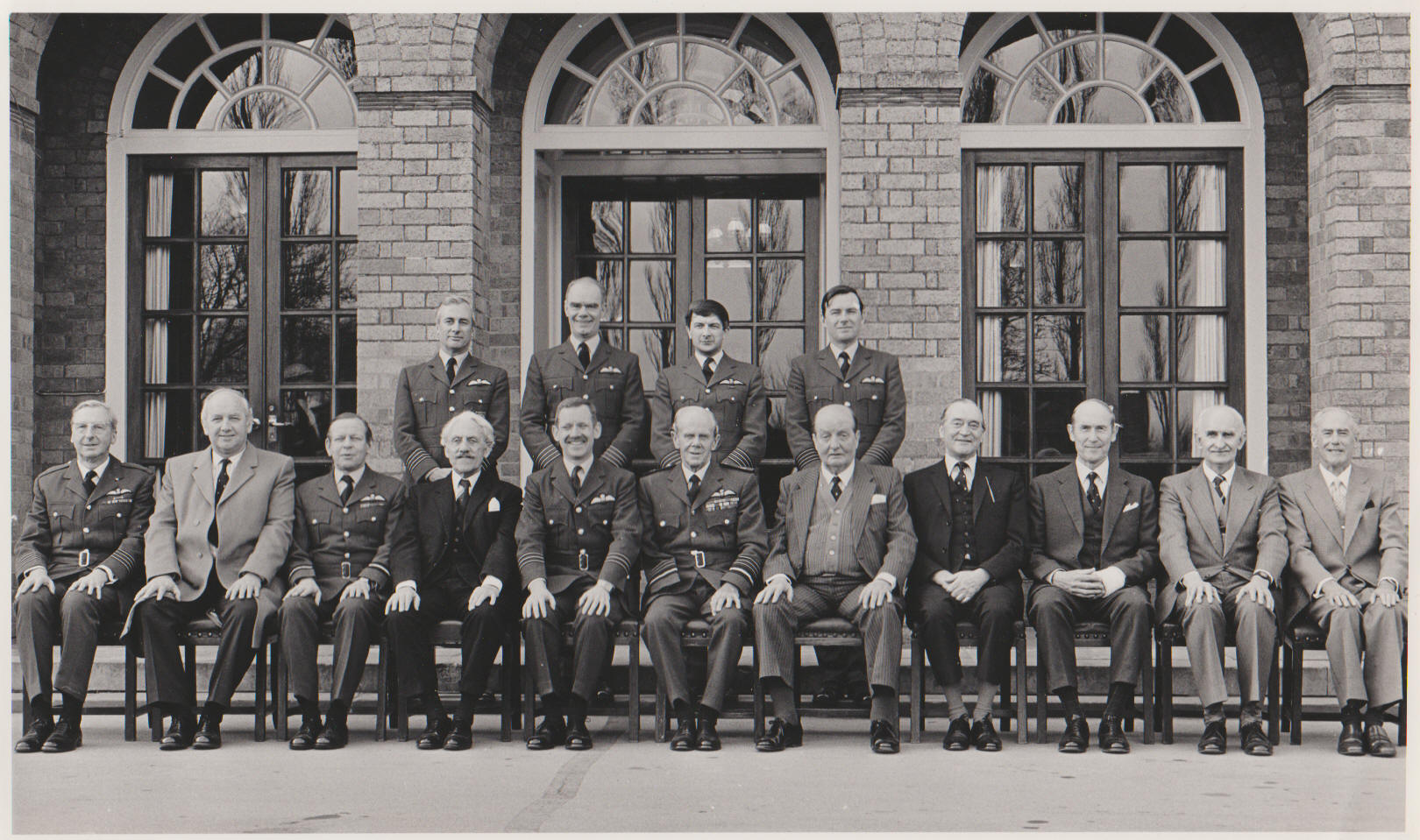 Ex Squadron Commanders at the squadron disbandment - 1984