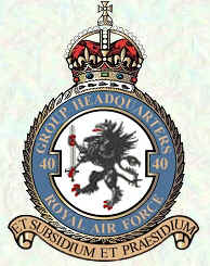 No 40 Group Badge
